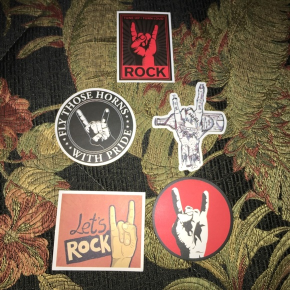 Other - Rock on lot of 14 decal